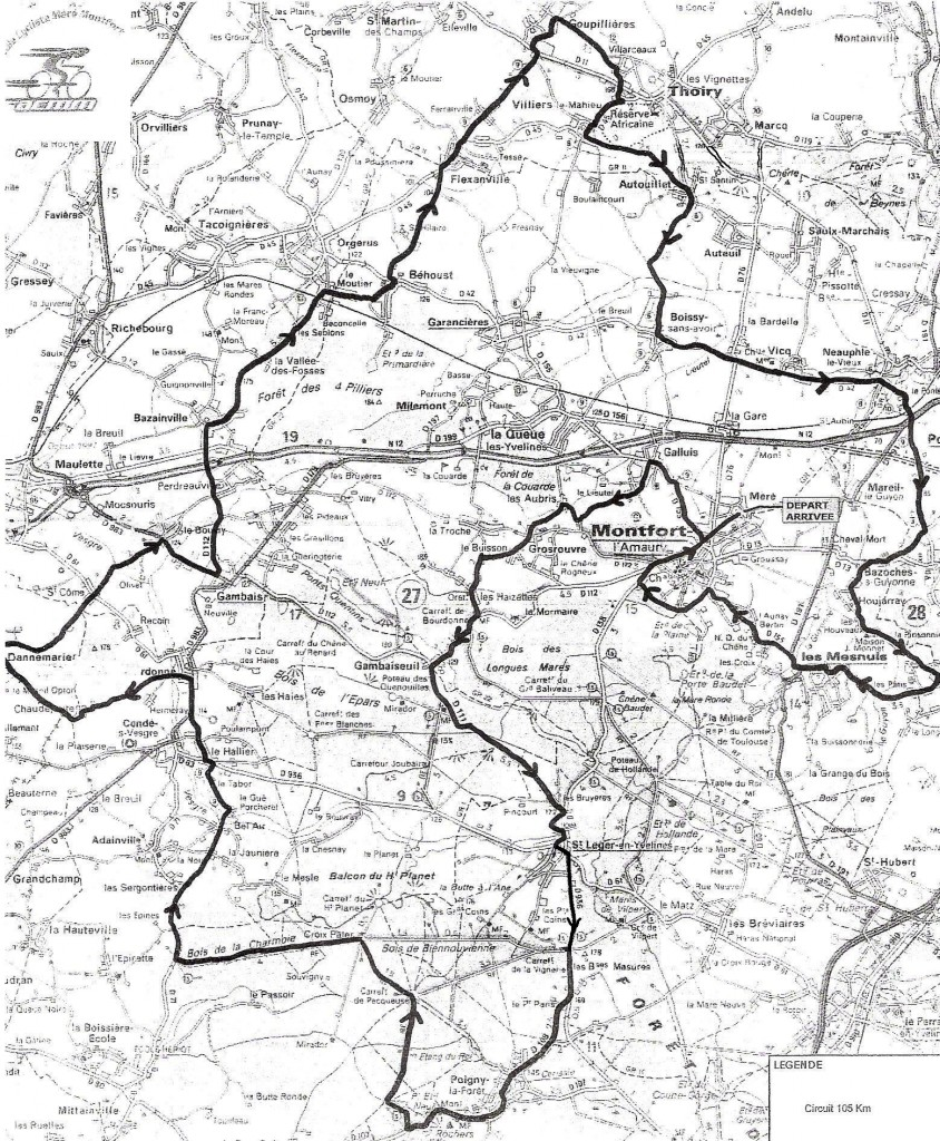 Parcours 105 km (agrandir l'image)