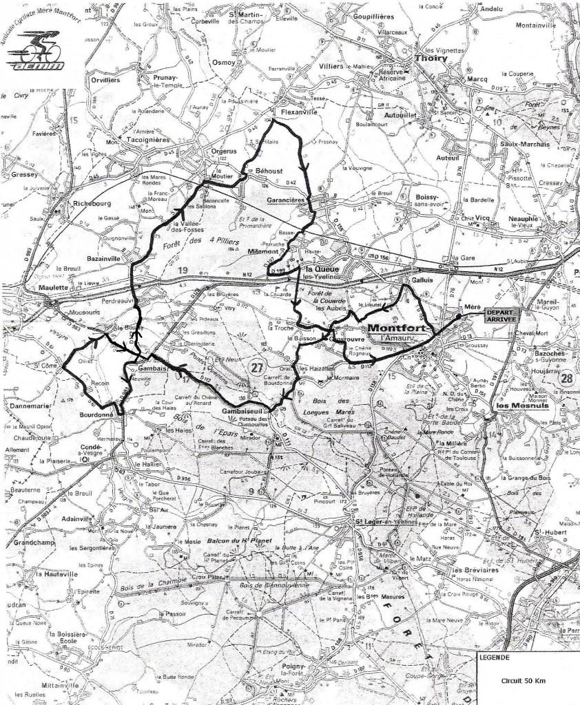 Parcours 50 km (agrandir l'image)
