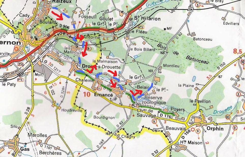 Détail parcours les deux réserves (agrandir l'image)