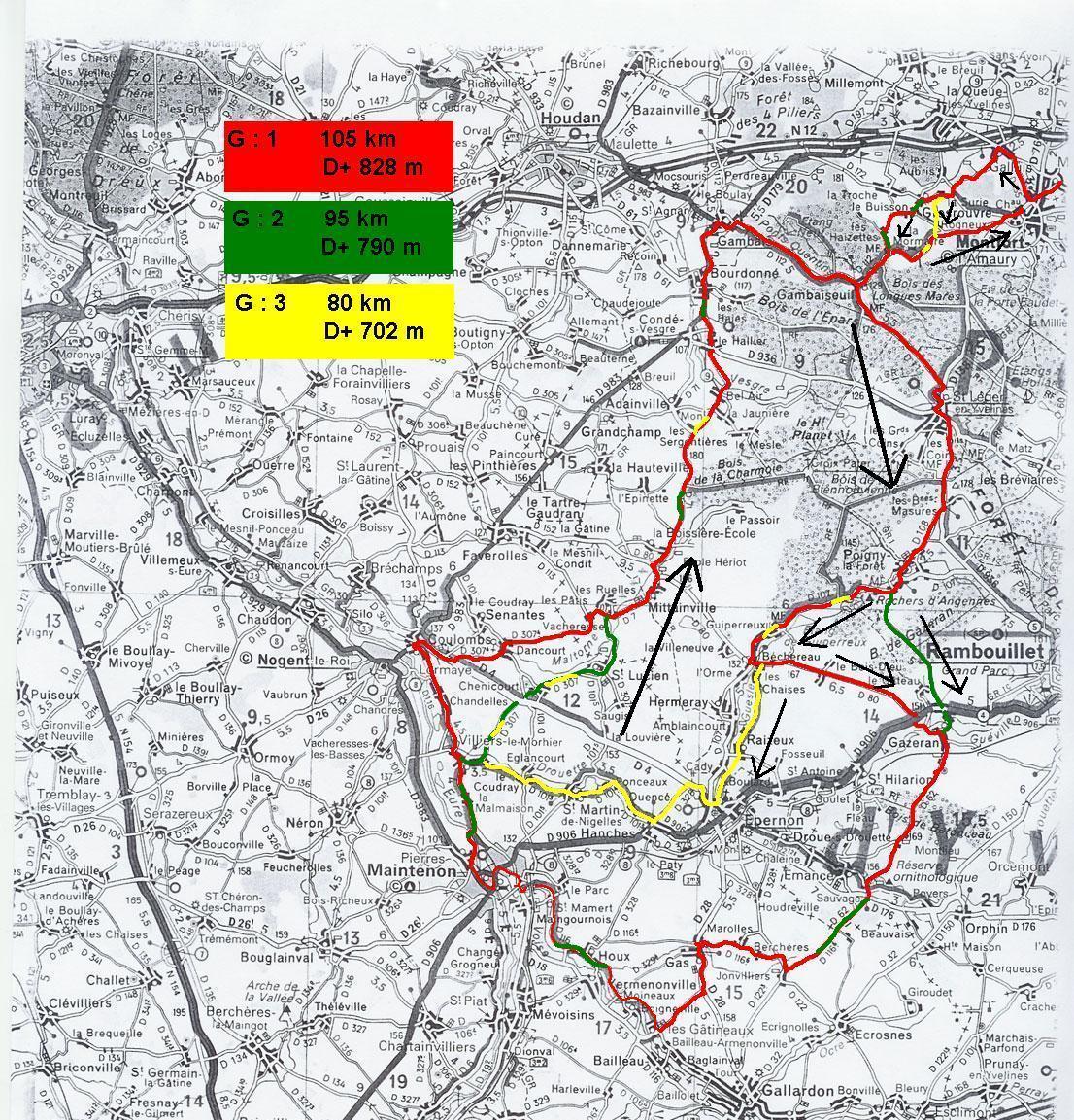 parcours 30 Epernon,Maintenon,Nogent